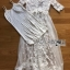 Lady Ribbon White Tulle and Lace Dress thumbnail 7