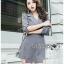 Lady Ribbon Korea Printed Mini Dress thumbnail 7