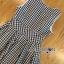 Lady Ribbon Korea เสื้อผ้าเกาหลี ของแท้พร้อมส่ง Lady Ribbon Dress LR21250716 &#x1F380 Lady Ribbon's Made &#x1F380 Lady Jennifer Summery Pretty Daisy Embroidered Plaid Dress thumbnail 4