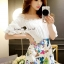 Lady Ribbon Korea Brand SS16300516 Seoul Secret Say's .... Sweety Color Butterfly Playsuit thumbnail 3