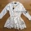 Lady Ribbon Dress Korea LR15190516 &#x1F380 Lady Ribbon's Made &#x1F380 Lady Aurelie Minimal Chic Cotton Long Dress korea Shirt with Lace Trim thumbnail 6