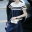 Lady Ribbon Korea Brand SS17300516 Seoul Secret Say's .... Ladiest Netty Stipy Line Denim Dress thumbnail 2