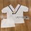 Lady Ribbon เสื้อผ้าเกาหลี LR16140716 &#x1F380 Lady Ribbon's Made &#x1F380 Lady Analeigh Sweet Chic Monochrome Lace and Cotton Blouse เสื้อคอตตอน thumbnail 6