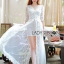 Lady Ribbon White Tulle and Lace Dress thumbnail 1