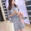 Lady Ribbon Korea Dress &#x1F380 Lady Ribbon's Made &#x1F380 Lady Ariana Sweet Feminine French Lace Dress in Light Blue เดรสผ้าลูกไม้ thumbnail 4