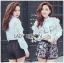 Lady Ribbon Korea Lace Cotton Dress Shirt เดรสเชิ้ตผ้าคอตตอน thumbnail 2
