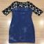 Brand Cliona made' Fanny Luxury Denim Dress - Mini dress แขนสามส่วน thumbnail 3