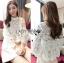 Lady Ribbon's Made &#x1F380 Lady Cara Feminine Flare-Sleeve Lace Blouse Korea Dress thumbnail 10