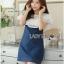 Lady Ribbon Korea Dress Denim LR01300616 &#x1F380 Lady Ribbon's Made &#x1F380 Lady Elena Laser-Cut Ruffle Cotton and Denim Mini Dress thumbnail 2