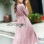 Lady Ribbon Pink Denim Dress thumbnail 2