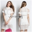 Lady Ribbon's Made &#x1F380 Lady Taylor Sweet Preppy Collared White Korea Lace Dress thumbnail 3