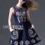 Lady Ribbon Closet LR08260516 &#x1F380 Lady Ribbon's Made &#x1F380 Lady Closet Lily Sweet Casual Flower Embroidered Denim Dress thumbnail 5