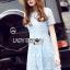 Lady Ribbon Dress Lady Ribbon Korea LR22190516 &#x1F380 Lady Ribbon's Made &#x1F380 Lady Alexis Sweet Minimal Baby Blue Lace Dress เดรสผ้าลูกไม้ thumbnail 4