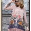 Lady Ribbon Korea LB03160516 &#x1F380 Lady Ribbon's Made &#x1F380 Lady Marlene Sweet Vintage Floral Printed and Lace Dress เดรสแขนยาวสีชมพูอ่อนพิมพ์ลายดอกไม้ตกแต่งชายลูกไม้สไตล์วินเทจ thumbnail 5