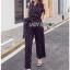 Black and White Lady Polkadot Jumpsuit thumbnail 2