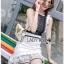 Black & White Lace Lady Ribbon Mini Dress thumbnail 2