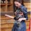 Dress Lady Ribbon Korea Dress เชิ้ตเดรสผ้าเดนิม thumbnail 4