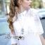 Dress Lady Ribbon Korea Cotton Long Dress Shirt เดรสเชิ้ต thumbnail 2