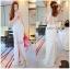 : Lady Ribbon Korea LB02160516 &#x1F380 Lady Ribbon's Made &#x1F380 Lady Nicole Sexy Chic High-Neck Graphic Lace Maxi Dress เดรสยาว แขนกุด คอสูงผ้าลูกไม้ลายกราฟฟิก thumbnail 1