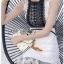 Black & White Lace Lady Ribbon Mini Dress thumbnail 4