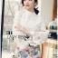 Lady Ribbon's Made &#x1F380 Lady Cara Feminine Flare-Sleeve Lace Blouse Korea Dress thumbnail 5