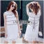 Lady Ribbon Korea เสื้อผ้าเกาหลี ของแท้พร้อมส่ง Lady Ribbon Dress LR08250716 &#x1F380 Lady Ribbon's Made &#x1F380 Lady Kate Sporty Sweet White Lace Dress เดรสผ้าลูกไม้ thumbnail 1