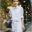 Lady Ribbon's Made &#x1F380 Lady Vanessa Classic Insert Lace Shirt Korea in White thumbnail 1