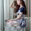 Lady Ribbon Korea Dress ผ้าลูกไม้ LR17230616 &#x1F380 Lady Ribbon's Made &#x1F380 Lady Christie Sweet Modern Jersey Cotton Dress on top with White Lace Dress thumbnail 3