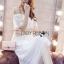 Lady Ribbon Korea LR05260516 &#x1F380 Lady Ribbon's Made &#x1F380 Lady Emilia Bohemian Off-Shoulder Embroidered Cotton Lace Maxi Dress thumbnail 4