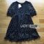 Lady Ribbon's Made &#x1F380 Lady Elena Feminine Cross Dot Printed Chiffon and Knitted Dress thumbnail 8
