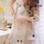 Korea Design By brand cliona Lavida sweety floral printed feminine cream dress thumbnail 2
