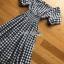 Off-Shoulder Lady Ribbon Checked Dress thumbnail 5