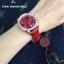 Omega Speedmaster Chronograph 38 MM Ladies - Red/Diamonds thumbnail 5