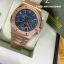 Audemars Piguet Royal Oak Chronograph - Gold with Blue Dial thumbnail 4