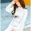 Lady Ribbon Dress Korea LR15190516 &#x1F380 Lady Ribbon's Made &#x1F380 Lady Aurelie Minimal Chic Cotton Long Dress korea Shirt with Lace Trim thumbnail 3