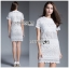 Lady Ribbon's Made &#x1F380 Lady Blooming Classic Lace Dress in White เดรส thumbnail 4