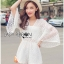 Lady Ribbon Korea Closet LR03230616 &#x1F380 Lady Ribbon's Made &#x1F380 Lady Catherine Casual Flared Sleeve Lace Playsuit in White เ thumbnail 2
