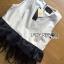 Lady Ribbon's Made &#x1F380 Lady Olivia Minimal Chic Peplum and Feather Cotton Ensemble Set thumbnail 8