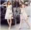 Lady Ribbon Korea Dressเสื้อผ้า LR16010816 &#x1F380 Lady Ribbon's Made &#x1F380 Lady Selena Classic Elegant Sleeveless White Mixed Lace Top เดรสผ้าลูกไม้แขนกุด thumbnail 1