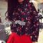 Lady Ribbon's Made &#x1F380 Lady Rosie Casual Polka Dot and Flower Printed Cotton Satin Ensemble Set เ thumbnail 4