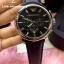 Emporio Armani Oversize Gents Chronograph Watch, Black Dial, Black Leather Strap thumbnail 2