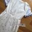 Lady Ribbon Korea Mini Dress LR10160616 &#x1F380 Lady Ribbon's Made &#x1F380 Lady Mini Dress Natalie Summery Sweet Vintage Blue and White Dress เดรสสีขาว thumbnail 4