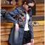 Dress Lady Ribbon Korea Dress เชิ้ตเดรสผ้าเดนิม thumbnail 5