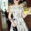 Lady Ribbon Korea Mini Dress LR17270616 &#x1F380 Lady Ribbon's Made &#x1F380 Lady Lizzy Sweet Chic Printed White Lace Mini Dress thumbnail 2