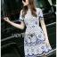 Lady Ribbon Korea Dress LR13060616 &#x1F380 Lady Ribbon's Made &#x1F380 Lady Stephanie Sweet Feminine Laser-Cut Floral Lace Dress thumbnail 3