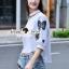 Lady Ribbon Korea Brand SS07060616 Seoul Secret Say's... Chic Shirt ButterFly Denim Set thumbnail 4