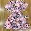 Lady Ribbon เสื้อผ้าเกาหลี LR04140716 &#x1F380 Lady Ribbon's Made &#x1F380 Gucci Sweet Natural Floral Printed Mini Pink Dress เดรสสีชมพูพิมพ์ลายดอกไม้ thumbnail 6