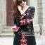 Closet Seoul Secret Say's... Bell Sleeve Bohe Style Red Cord Embroider Black Dress Ornamental Fringe thumbnail 2