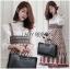 Lady Ribbon Korea Dress LR05160616 &#x1F380 Lady Ribbon's Made &#x1F380 Lady Rosie Feminine White Lace Shirt and Printed Viscose Dress Set thumbnail 2