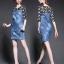 Brand Cliona made' Fanny Luxury Denim Dress - Mini dress แขนสามส่วน thumbnail 1